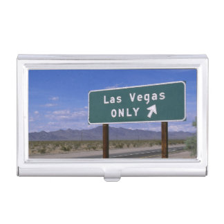 Roadside sign showing direction, California Business Card Holder