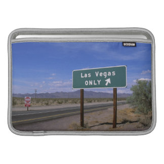 Roadside sign showing direction, California Sleeve For MacBook Air