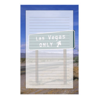 Roadside sign showing direction, California Stationery Paper