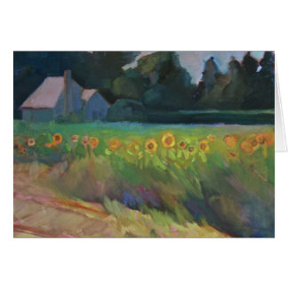 'Roadside Sunflowers' - a country landscape Card