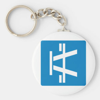 Roadside Table Highway Sign Basic Round Button Key Ring
