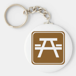 Roadside Table Highway Sign Key Ring