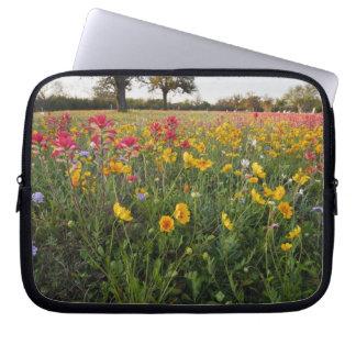 Roadside wildflowers in Texas, spring Laptop Sleeve