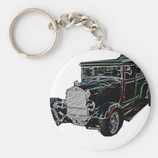 Roadster 3 basic round button key ring