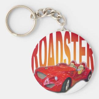 roadster basic round button key ring