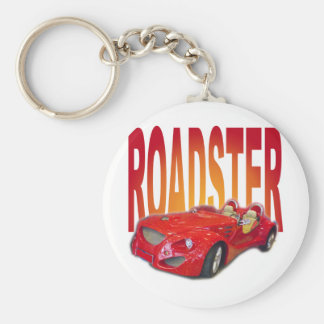 roadster basic round button key ring