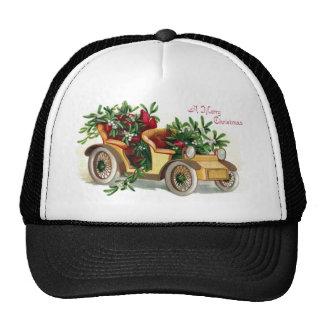 Roadster Full of Mistletoe Vintage Christmas Cap