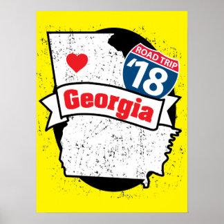 Roadtrip '17 Georgia - yellow poster