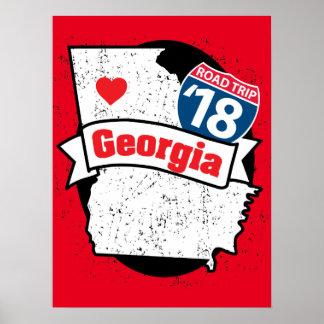Roadtrip '18 Georgia - red poster