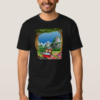 RoadtripPeople riding along the green forest T-shirt