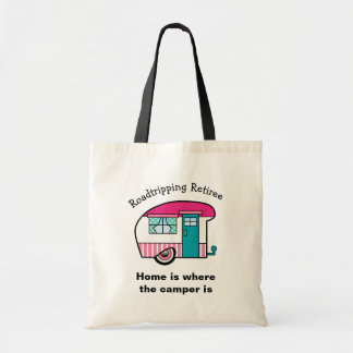 Roadtripping Retiree Pink and Teal Camper