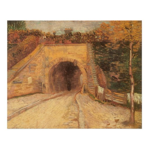 Roadway w Underpass; Viaduct by Vincent van Gogh Poster