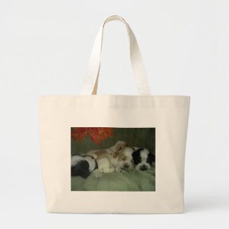 Roan Cocker spaniel  puppies. Nap Time! Canvas Bags