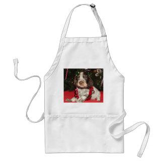 Roan English Springer Spaniel Christmas Puppy Adult Apron