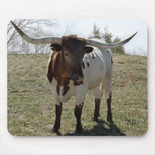 Roan Longhorn Steer- personalise if desired Mouse Mat