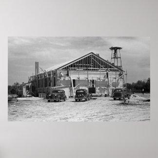 Roanoke Farms Construction 1930s Poster
