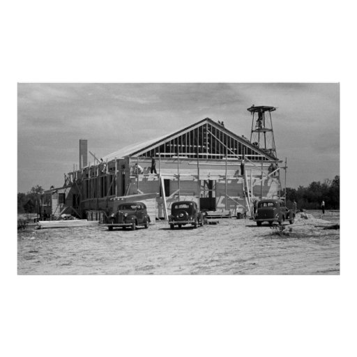 Roanoke Farms Construction, 1930s Poster