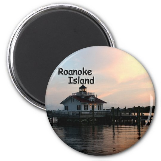 Roanoke Island Lighthouse 6 Cm Round Magnet