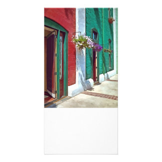 Roanoke VA - Doors and Hanging Baskets Custom Photo Card