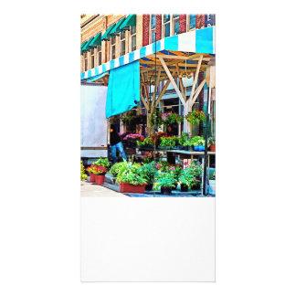 Roanoke VA - Unloading Flower Truck Personalized Photo Card