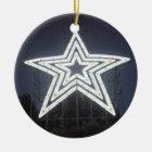 Roanoke Virginia Star Christmas Ornament