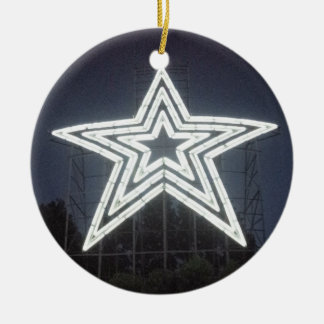 Roanoke Virginia Star Christmas Ornament