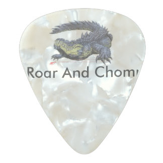 Roar And Chomp Pearl Celluloid Guitar Pick