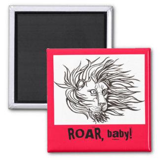 ROAR, baby! Square Magnet
