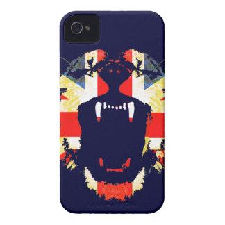 Roar Great British lion union jack iphone case iPhone 4 Case-Mate Case