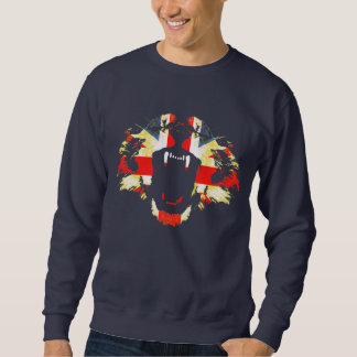 Roar Great British lion union jack jumper Pullover Sweatshirts