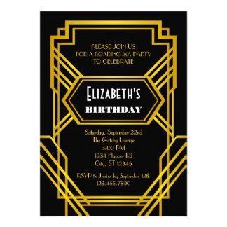 Roaring 20 s Birthday Invitation