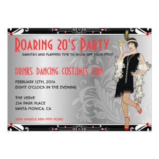 Roaring 20 s Flapper Girl Retro Invitations