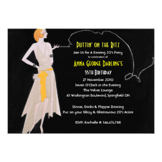 Roaring 20 s - Flapper Party Invitations