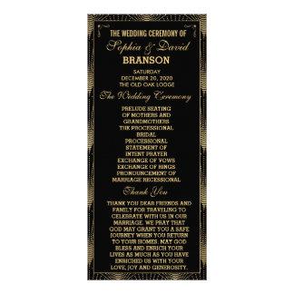 Roaring 20s Art Deco Great Gatsby Wedding Program Rack Card