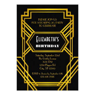 Roaring 20's Birthday Invitation