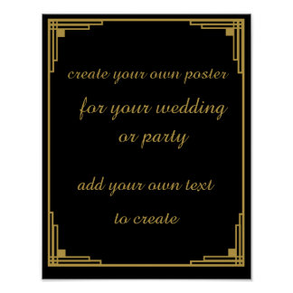 Roaring 20's Create your own poster sign