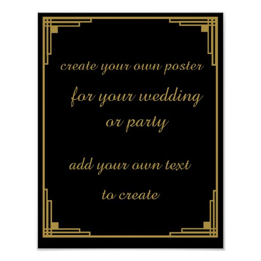 Roaring 20 39 S Create Your Own Poster Sign Zazzle