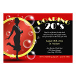 Roaring 20's Flapper Girl Giggle Water Invitations