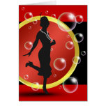 Roaring 20's Flapper Girl Thank You Cards