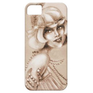 Roaring 20s girl sepia iPhone 5 covers