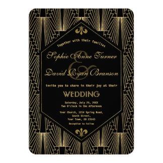 Roaring 20s Great Gatsby Vintage Art Deco Wedding Card