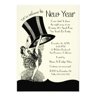 Roaring 20's New Year's Eve Party Announcements