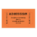 Roaring 20's Speakeasy Theme Party Tickets Pack Of Standard Business Cards