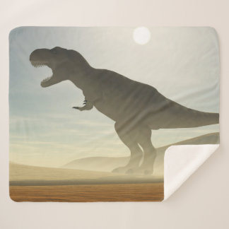 Roaring Dinosaur Medium Sherpa Fleece Blanket