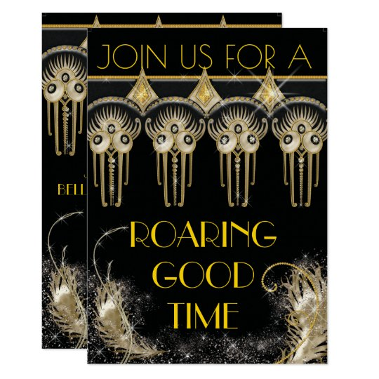Roaring Gatsby Bling Party Invitations