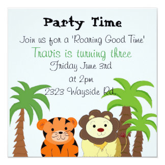 Roaring Good Time Party Invitation