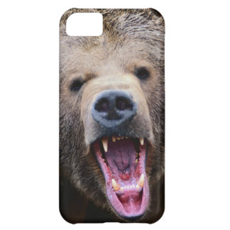 Roaring Grizzly Bear Cover For iPhone 5C