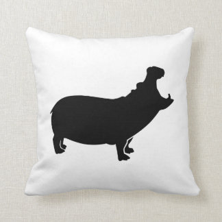 Roaring hippo cushion