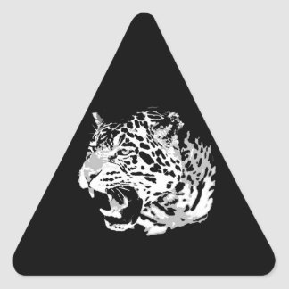 Roaring Jaguar Triangle Sticker