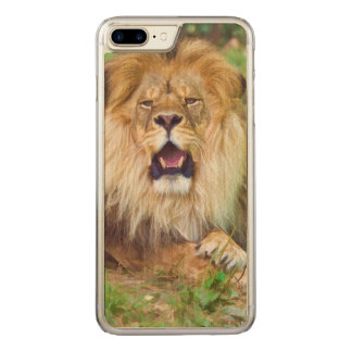Roaring Lion Carved iPhone 7 Plus Case